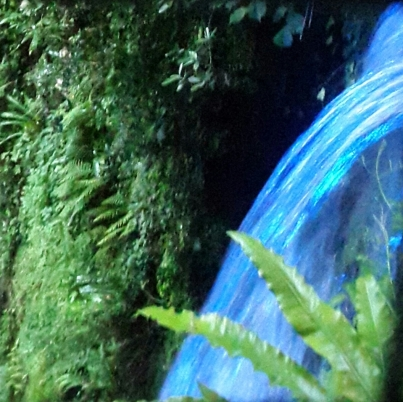 Shanklin Chine ever-changing rainbow waterfall